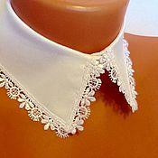 Аксессуары handmade. Livemaster - original item Removable collar /cotton Waite. Handmade.