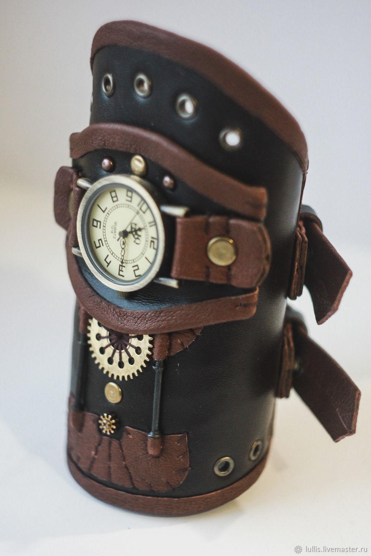 Наручные стимпанк-часы, Часы наручные, Челябинск,  Фото №1