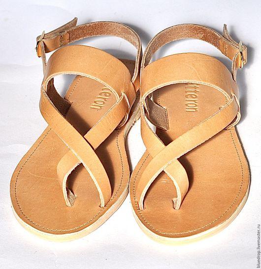 """Обувь ручной работы. Ярмарка Мастеров - ручная работа. Купить Кожаные сандалии """"классические"""" открытые. Handmade. Сандалии, кожа"""