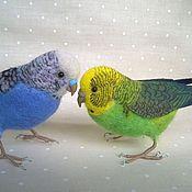 Куклы и игрушки ручной работы. Ярмарка Мастеров - ручная работа Волнистые попугайчики. Handmade.