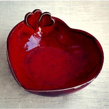 """Посуда ручной работы. Ярмарка Мастеров - ручная работа Тарелка """"Для влюблённых"""". Handmade."""