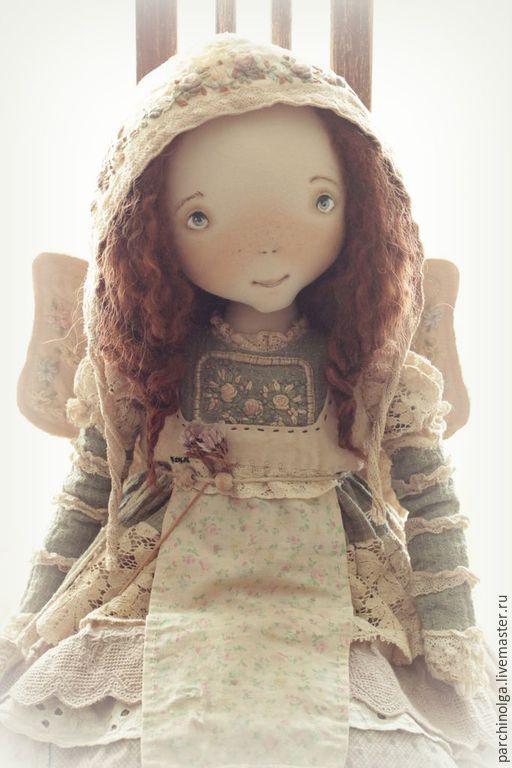 Коллекционные куклы ручной работы. Ярмарка Мастеров - ручная работа. Купить МотылЁк. Handmade. Оливковый, мотылек, кружево винтажное