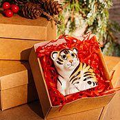 Сувениры и подарки handmade. Livemaster - original item Tiger Cub-the symbol of the year 2022 Figurine. Handmade.