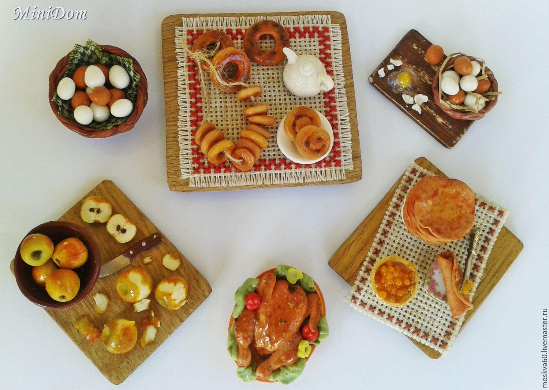магнит на холодильник кукольная миниатюра для кукол и игрушек необычный подарок ручная работа еда для кукол кукольная еда русский стиль баранки бублики блины масленица для кукольного дома