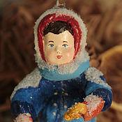 Подарки к праздникам ручной работы. Ярмарка Мастеров - ручная работа Ватная игрушка.  Девочка с крендельком.. Handmade.