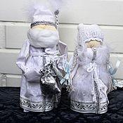 Куклы и игрушки handmade. Livemaster - original item The snow maiden and grandfather frost. Handmade.