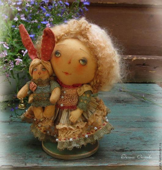 Ароматизированные куклы ручной работы. Ярмарка Мастеров - ручная работа. Купить Зайкина хозяйка. Handmade. Голубой, детство, воспоминания о лете