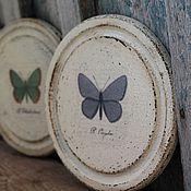 Для дома и интерьера ручной работы. Ярмарка Мастеров - ручная работа Панно настенное бабочки, винтаж, ботаника и баттерфляй. Handmade.