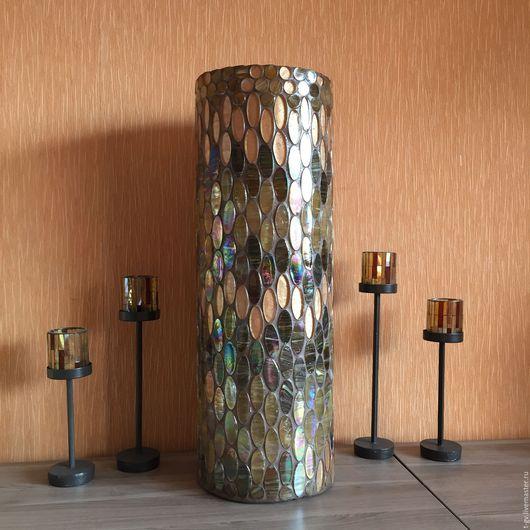 Вазы ручной работы. Ярмарка Мастеров - ручная работа. Купить Высокая ваза 60см Мозаика. Handmade. Ваза, подарок девушке