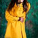 Платья ручной работы. Ярмарка Мастеров - ручная работа. Купить Льняная туника с длинным рукавом. Handmade. Желтый, льняная блузка
