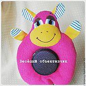 Куклы и игрушки ручной работы. Ярмарка Мастеров - ручная работа Игрушка на объектив бегемот. Handmade.