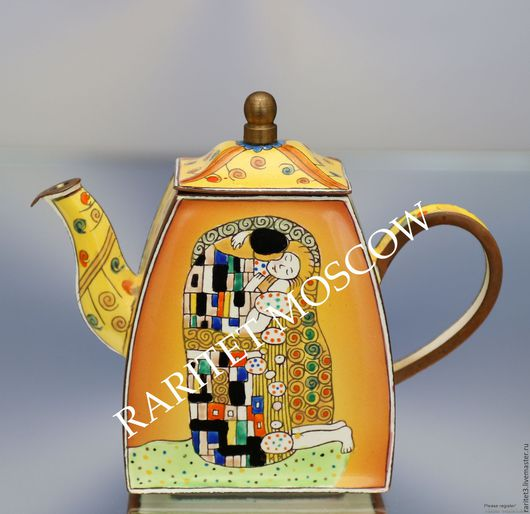 Винтажная посуда. Ярмарка Мастеров - ручная работа. Купить Чайник поцелуй Густав Климт клуазоне эмаль 28. Handmade. Комбинированный