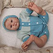 Работы для детей, ручной работы. Ярмарка Мастеров - ручная работа Песочник боди с шапочкой для новорожденных Шелковый. Handmade.