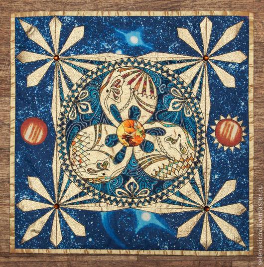 Символизм ручной работы. Ярмарка Мастеров - ручная работа. Купить Синее троеслоние. Handmade. Триединство, слоны, авторская ручная работа