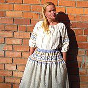 Одежда ручной работы. Ярмарка Мастеров - ручная работа Длинная юбка в фольклорном стиле. Handmade.