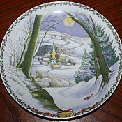 Винтаж handmade. Livemaster - original item Christmas plate