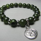 "Украшения handmade. Livemaster - original item Copy of Bracelet with jade and copper beads ""Game"". Handmade."