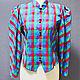 Одежда. Ярмарка Мастеров - ручная работа. Купить Блузка FRANCE винтаж 70-е годы. Handmade. Комбинированный, яркая блузка