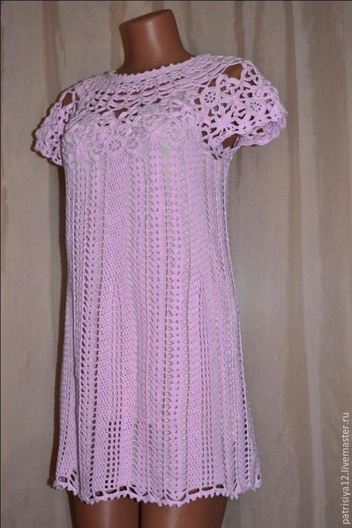 """Платья ручной работы. Ярмарка Мастеров - ручная работа. Купить Платье """"Маленькая Диана"""". Handmade. Бледно-розовый, вискоза 50%"""