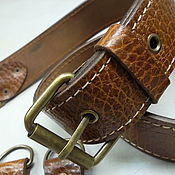Кожа ручной работы. Ярмарка Мастеров - ручная работа Лот - 101 Ремень для сумки, ш.38 мм, толщ.3,8-4,0 мм.. Handmade.