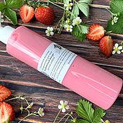 handmade. Livemaster - original item Flushable body milk Strawberry yogurt. Handmade.