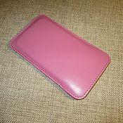 Сумки и аксессуары handmade. Livemaster - original item Phone case made of genuine leather. Orange, Red, Pink.. Handmade.