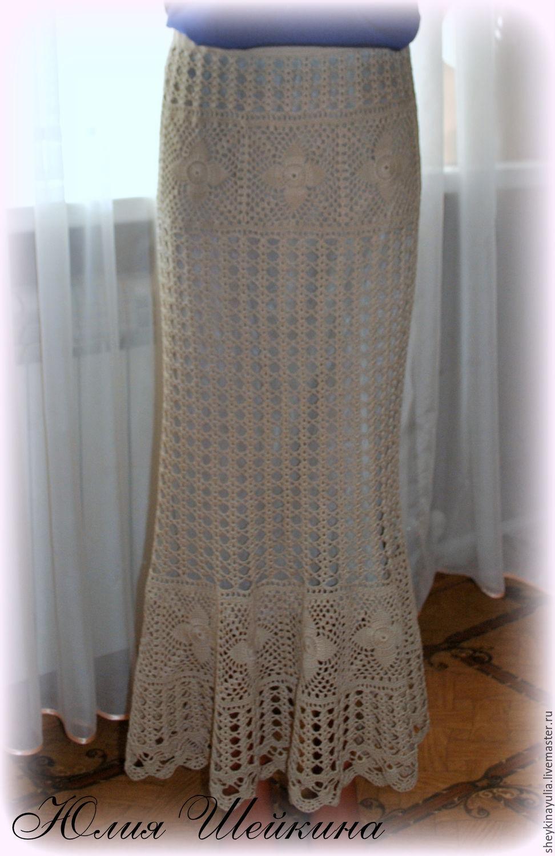 Вязание крючок юбка длинная 913