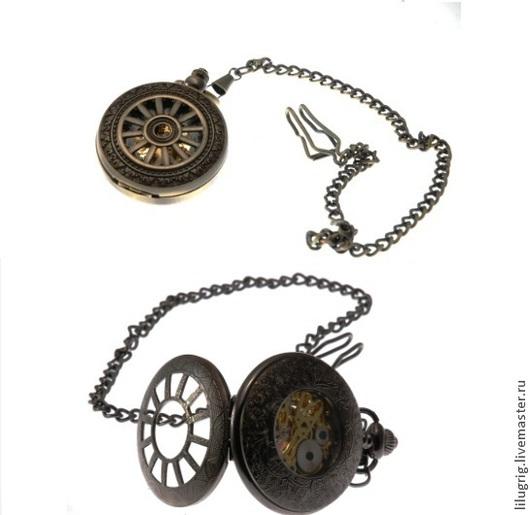 """Часы ручной работы. Ярмарка Мастеров - ручная работа. Купить Часы механические карманные """"Колесо"""". Handmade. Часы, механика"""