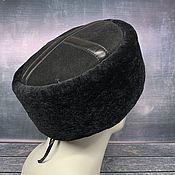 Аксессуары handmade. Livemaster - original item Black sheepskin hat. Handmade.