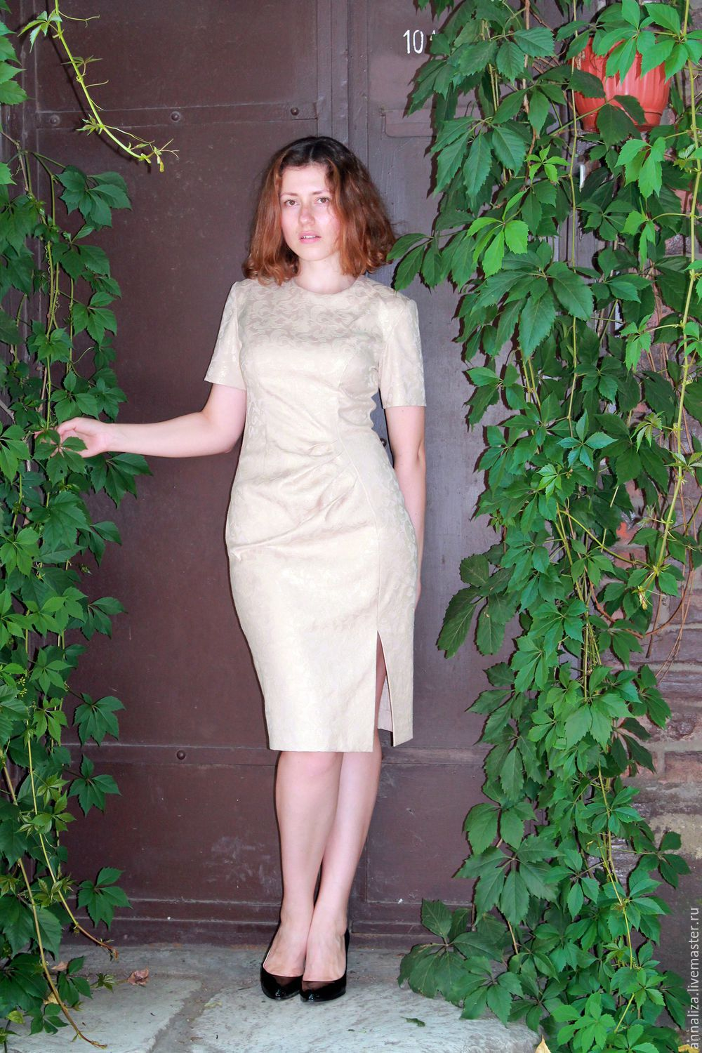 Retro dress in the style of the 50s 'Audrey' beige, Dresses, Moscow,  Фото №1