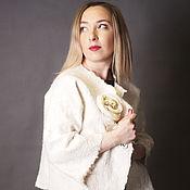 "Одежда ручной работы. Ярмарка Мастеров - ручная работа Жакет   ""snow-white"". Handmade."