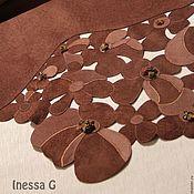 Одежда handmade. Livemaster - original item Suede skirt chocolate brown. Handmade.