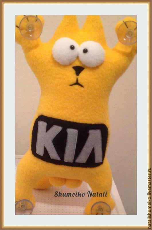 Игрушки животные, ручной работы. Ярмарка Мастеров - ручная работа. Купить Кот Саймона с логотипом авто. Handmade. Кот Саймона