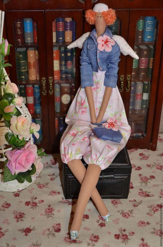 Куклы Тильды ручной работы. Ярмарка Мастеров - ручная работа. Купить Тильда,,Весенний ангел,,. Handmade. Голубой, розовый, ирис