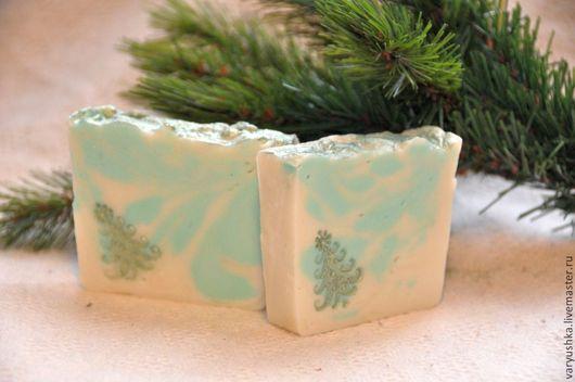 Мыло ручной работы. Ярмарка Мастеров - ручная работа. Купить «Хвойный лес» натуральное мыло ручной работы. Handmade. Мятный