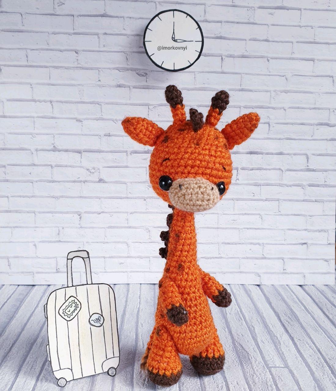 Жираф вязаная авторская игрушка крючком амигуруми подарок ребёнку, Игрушки, Москва, Фото №1