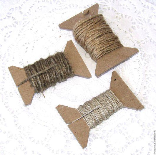 Упаковка ручной работы. Ярмарка Мастеров - ручная работа. Купить Шпагат льняной 3 вида для творчества. Handmade. Бежевый, шпагат