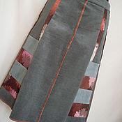 Одежда ручной работы. Ярмарка Мастеров - ручная работа Вельветовая юбка комбинированная. Handmade.