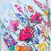 Картины и панно handmade. Livemaster - original item Painting on wood Flowers. Handmade.