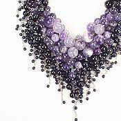 Украшения handmade. Livemaster - original item Mulberry Parfait Necklace made of natural amethysts and black agates. Handmade.