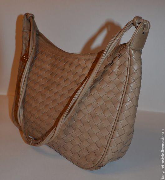 Винтажные сумки и кошельки. Ярмарка Мастеров - ручная работа. Купить Сумка кожаная. Handmade. Кожаная сумка, бежевый