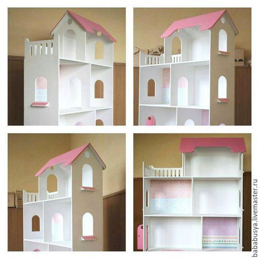 Детская ручной работы. Ярмарка Мастеров - ручная работа. Купить Кукольный домик. Handmade. Кукольный дом, шкаф, домик шкаф