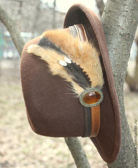 Подарки для мужчин, ручной работы. Ярмарка Мастеров - ручная работа. Купить Охотничья  шляпа. Handmade. Мужская шляпа, подарки для мужчин