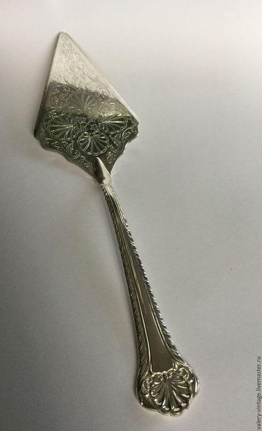 Винтажная посуда. Ярмарка Мастеров - ручная работа. Купить Винтажная лопатка для подачи торта серебрение, Neiman Marcus, Италия.. Handmade.