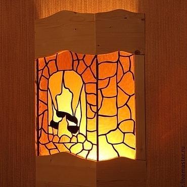 Для дома и интерьера ручной работы. Ярмарка Мастеров - ручная работа Витражный настенный светильник  бра Камин витраж тиффани. Handmade.