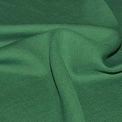 Материалы для творчества ручной работы. Ярмарка Мастеров - ручная работа Лен костюмный  Max Mara ( зеленый). Handmade.