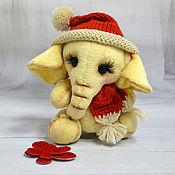Куклы и игрушки ручной работы. Ярмарка Мастеров - ручная работа Тедди Слоник Лимончик. Handmade.