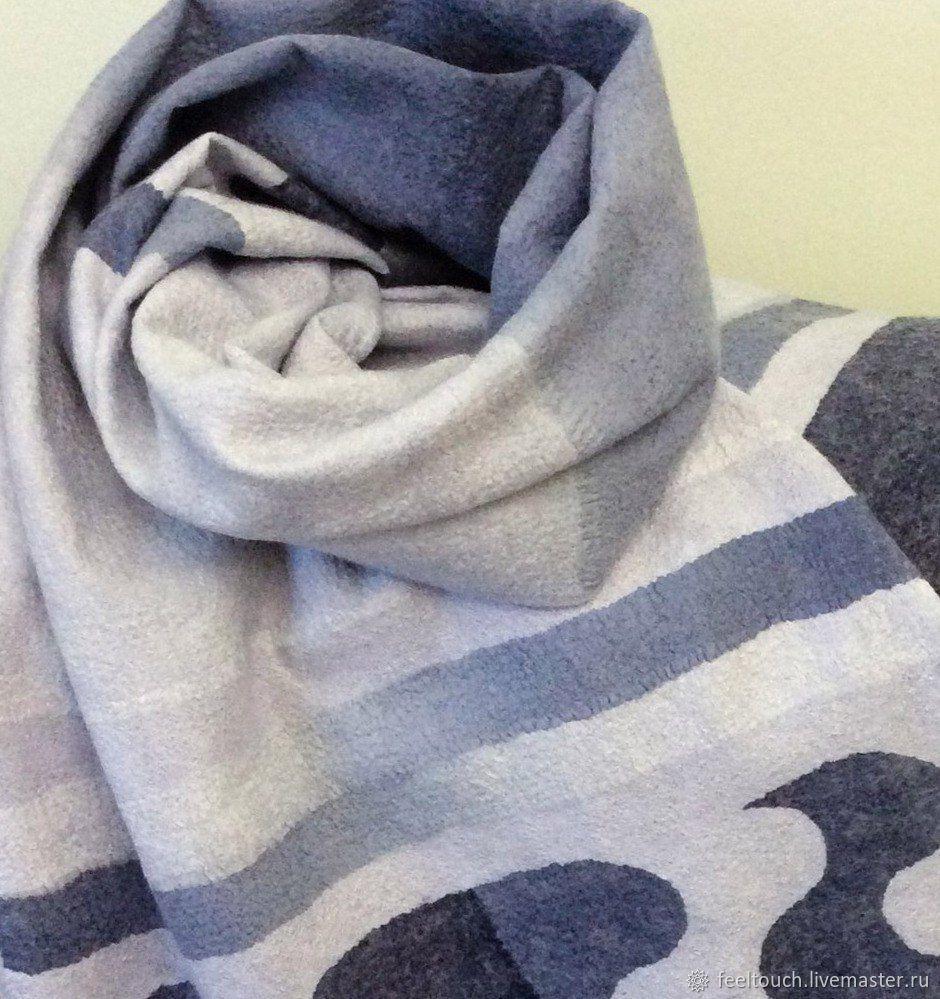 Scarves handmade. Livemaster - handmade. Buy Scarf felted 'Blue lagoon'.Handmade, women's scarf, Scarf pattern