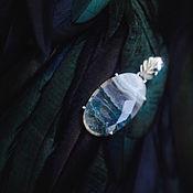 """Украшения ручной работы. Ярмарка Мастеров - ручная работа Серебряный кулон с моховым агатом """"Долина Амазонки"""". Handmade."""