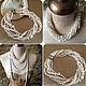 Купить украшения из натурального жемчуга жемчужное ожерелье колье классика женская роскошная авторская бижутерия белого цвета фото